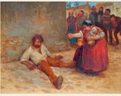 le pochard par terre 1905